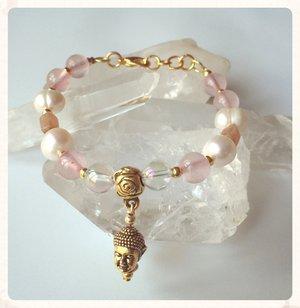 Magiskt armband med angel aura quartz