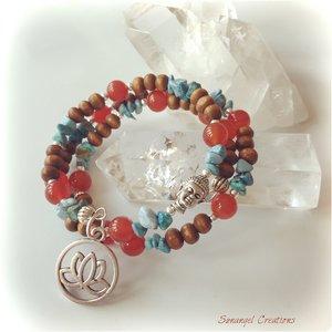Armband med turkos och karneol