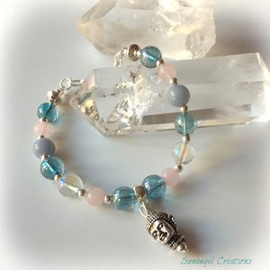 Armband för meditation och kontakt med hjärtat (silver)
